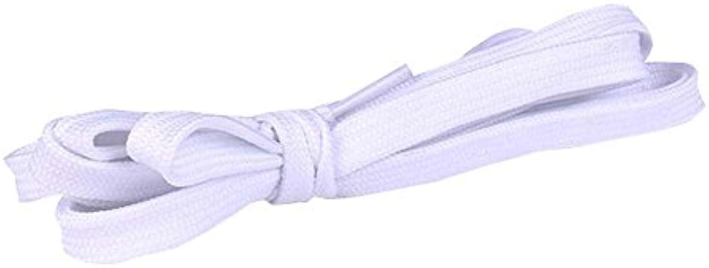 Cordones planos [1 pares] Gruesos - Para zapatos, zapatillas y botas - Blanco  -