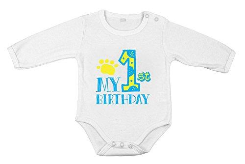 Mein 1. Erstes Geburtstags-neugeborene Baby-Jungen-Partei lange ein Stück Spielanzug