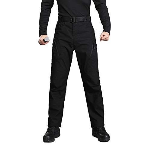TIFIY Herren Chino Hosen Stretch Hosen Casual Military Armee Tactical Hosen Cargo Pants Winter Im Freien Arbeit Hosen Boyfriend Hosenuff08Schwarz,L