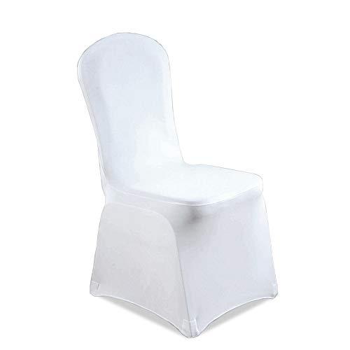 Hengda 100 Stück Universell Stuhlbezüge Stuhlhussen Weiß Stuhlhussen Elastik Stuhl Abdeckung für Hochzeiten und Feiern Pflegeleicht und Langlebig -