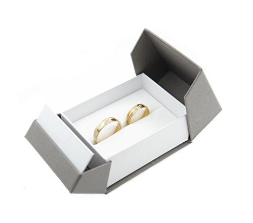 Foto de Anillo Alianzas De Funda ehringe Caja de alta calidad anillo de caja Caja para anillo de boda anillos de compromiso/San Valentín/gris blanco