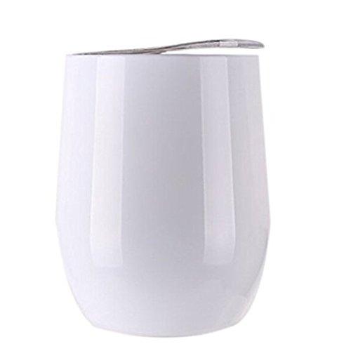 1Stück Edelstahl Wein Glas Bier Wein Cup WINE TUMBLER Schnabeltasse mit Deckel für rot Wein 19 weiß (Kunststoff-wein-gläser Farbe Rot)