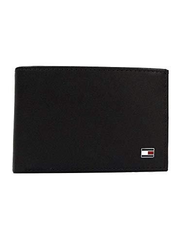 Tommy Hilfiger Herren ETON MINI CC FLAP & COIN POCKET Geldbörsen, Schwarz (BLACK 002), 11x7x2 cm