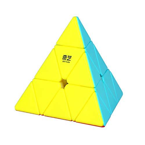 Roxenda Piramide Cubo Magico, Piramide Speed Cube Stickerless Superficie Smerigliata Triangolo Magic Cube, Liscio Puzzle Cubo di velocità