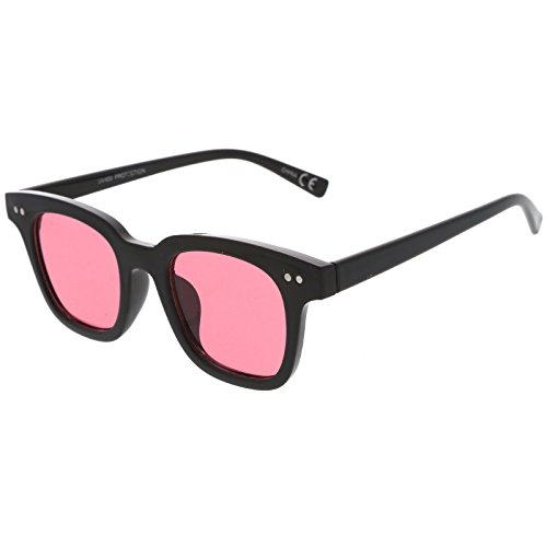 sunglassla-retro-chunky-frame-color-tinted-square-flat-lens-horn-rimmed-sunglasses-47mm