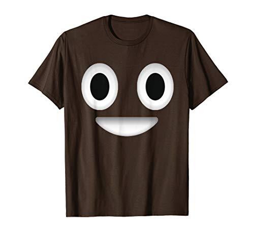 Poop Costume Emoticon Shirt Halloween Gift for Boys Girls T-Shirt