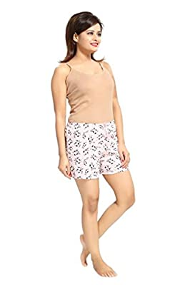 PDPM Women's Knitted Cotton Shorts/Night Shorts