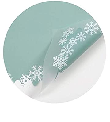 Flocon de neige Motif Papier d'emballage, Lollipop Bouquet Emballage Material Girls Parfum cosmétique Emballage papier couleur multiple