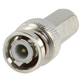 BNC Stecker EX-Pro(Twist-auf) gerade für RG58, RG142, RG400, URM43, 72, 76, BT2002 [Pack 2] Bnc-twist