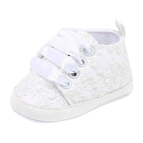 Zapatos de para Bebé Niñas Otoño Invierno PAOLIAN Zapatos de Primeros Pasos Suela Blanda Bautizo Antideslizante Boda Calzado de Embroidered Floral Regalo para recién Nacidos 0-12M
