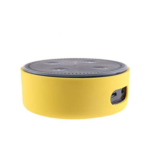 Igemy Silikon Schutzhülle für Amazon Echo Dot 2nd Ultradünne Proof Hülle (Gelb)