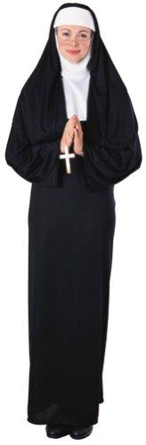 Nonnen Kostüm. Kleid und Kopfbedeckung. Eine Größe wird von Größe 40-46 passt. (Nonne Kostüm Amazon)