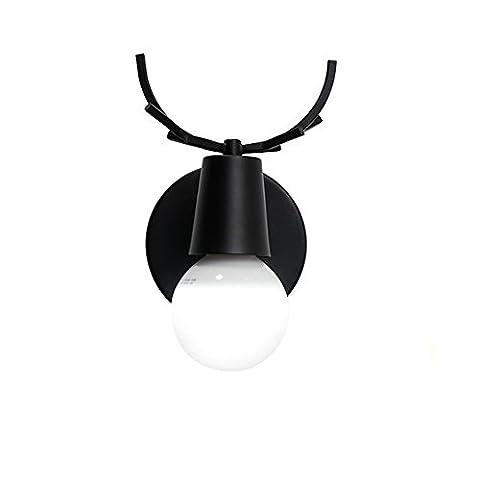 Lampes murales à LED modernes Applique murale réglable en noir