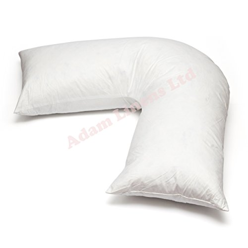 adamlinens-duck-feather-down-v-shaped-pillow-only-washable-anti-dust-mite-nursing-pregnancy-and-back