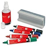 Brand New. 5 Star Drywipe Starter Kit of Drywipe Eraser and 100ml Cleaner and 4 Whiteboard Markers Assorted by 5 Star