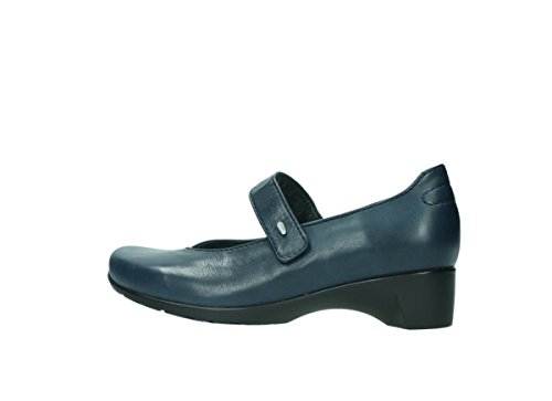 Wolky Mary Janes 7813 Ruby 280 dark blue leather