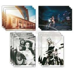 Set Fan poster, manifesti (4X 3= 12pezzi)-schwerpunkt: maedels su mopeds.-4diversi motivi in formato