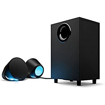 Logitech G560 Haut-parleurs Gaming PC - Son Surround DTS:X Ultra avec Eclairage RGB Synchronisé à vos Jeux