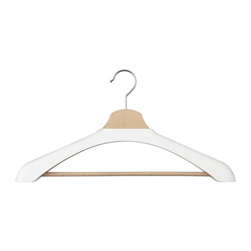 IKEA BUMERANG Kleiderbügelpolster in weiß