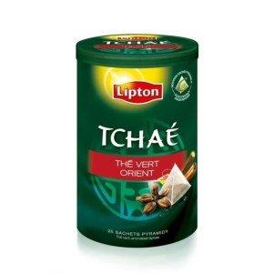 Lipton TCHAE Green Tea Orient Spice Pyramid Tea Bags in Original Circular Tins 3 Tins