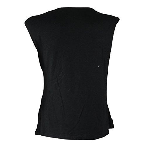 Donna Tattoo Angel Butterfly design stampa maglietta da donna retro canotta top 8–14 Black