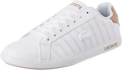 Lacoste Herren Graduate 318 1 SPM Sneaker, Weiß (White/Light Tan Y05), 43 EU
