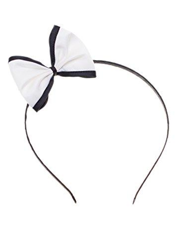 Haarband mit Schleife (6x8cm) Rockabilly Vintage Haarschmuck Kopfband Braut Pinup (Pferdeschwanz Jahre 50er)