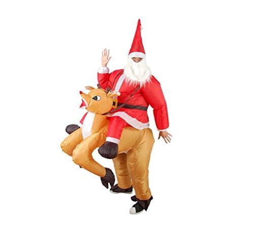 Kostüm Weihnachtsmann Aufblasbarer - LWTOP Santa Claus Inflatable Funny Kostümbeard and Hat, Christmas Adult Fun Party Event Performance Kostüm Weihnachtsspielzeug