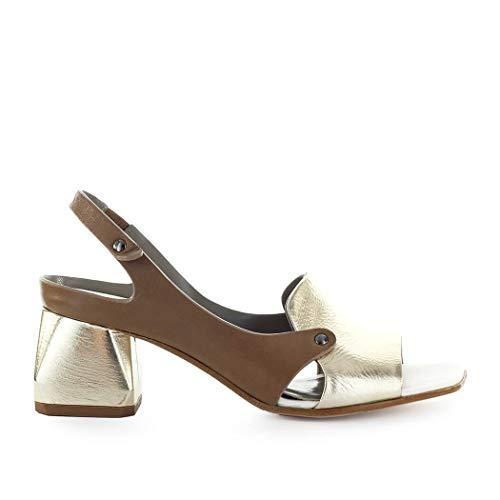 IXOS Damenschuhe Gold- Taubenfarbene Sandalette SS 2019