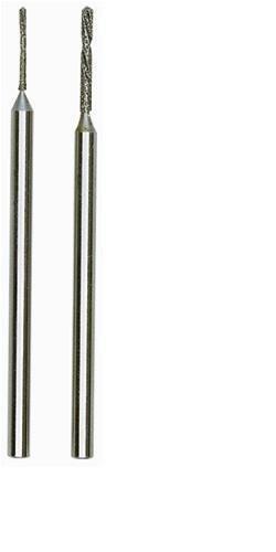 Salki -Proxxon 2228255 - Juego 2 brocas espiral diamantadas 0,8 mm