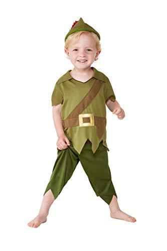Smiffys 47696T1 Robin Hood Kostüm für Kleinkinder, Jungen, Grün und Braun, Alter 1-2 Jahre