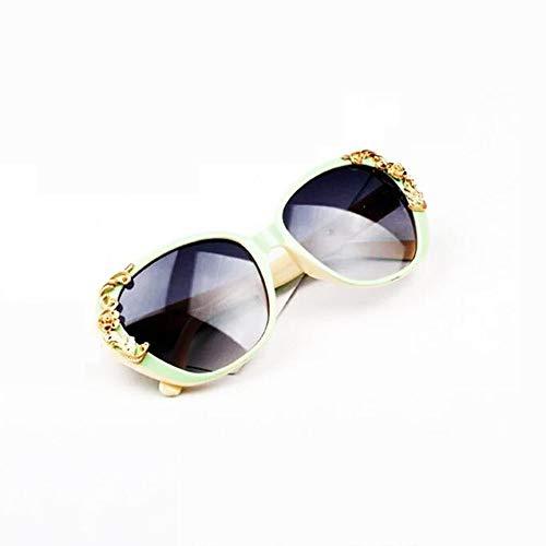 JOLLY Retro Sonnenbrille Eyewear Big Frame für Radfahren Laufen Fahren Angeln Golf Baseball Gläser, Muttertagsgeschenke, UVA & UVB Schutz (Farbe : Grün)