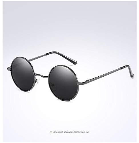 DuangBou Sportliche Sonnenbrille Schutzbrille UV400 Vollmetall Strand Golf Pflegeset Grau