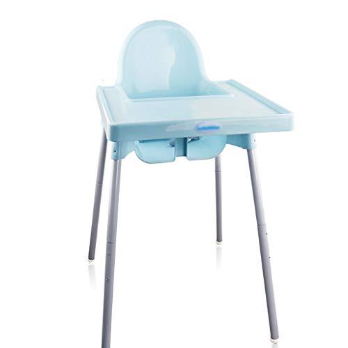 Kinder, Die Stuhl Speisen, Einfacher Hoher Hocker Multifunktions-justierbare Höhe Essen Spieltisch-Kind HighChairs Mit Platten-Sicherheitsgurt, für Haus, für Kinder 0-3 Jahre (Farbe : Blau) - Zähler Höhe Stühle Hocker
