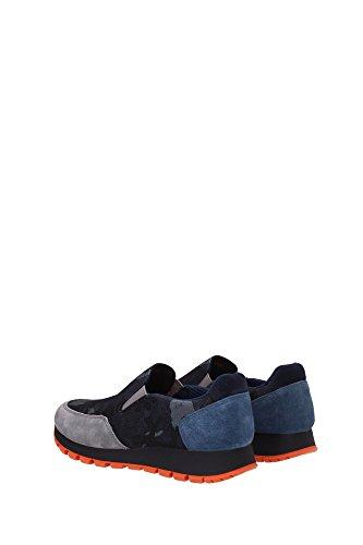 3S5947GHIAIA Prada Sneakers Femme Tissu Bleu Bleu