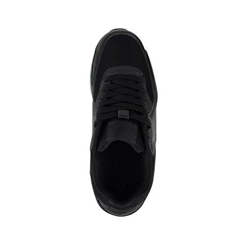 Alla moda Unisex Sneaker | Bambini Uomo Donna Sport Scarpe da corsa | turnschuhe| chunkyrayan Black L.A.
