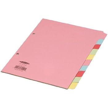 Grey Leitz 12750000 Plastic Index Blank A5 Polypropylene 12 Sheets