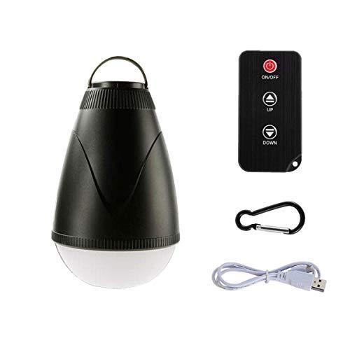Dimmbare wiederaufladbare Camping-Laterne Zeltbeleuchtung LED Outdoor Wasserdicht mit Fernbedienung, tragbare Camping-Lampe, Nachtlicht für Kinderzimmer, Wandern, Klettern, Rucksackreisen, Notfälle - Fernbedienung Laterne