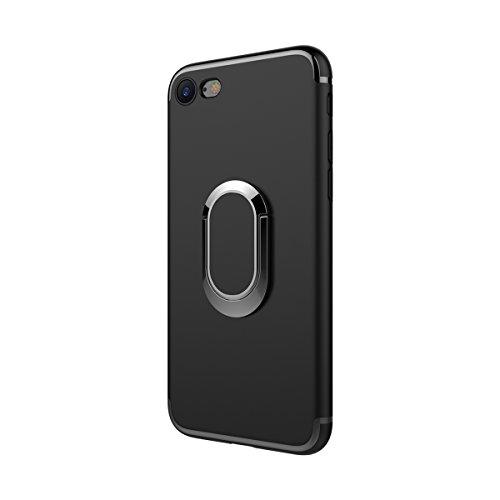 MOONCASE iPhone 6 Plus/iPhone 6s Plus Custodia, AntiGraffio Antiurto Protezione Supporto per Auto Cover Ultra Slim Flessibile TPU Armatura Defender Case per iPhone 6 Plus/6s Plus 5.5 Nero Nero