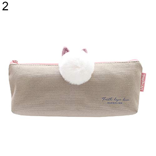 Home Office Storage Efficient Home Office Cat Pencil Case Cute Plush Pen Bag Makeup Pouch Cosmetic Bag Kid Stationery Gift Children Money Bags S*70