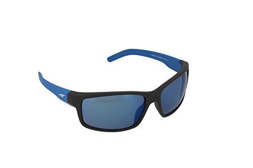 Arnette Herren 0AN4202 226855 62 Sonnenbrille, Schwarz (Fuzzy Black/Blueemirrorbluee) (135 Black Brille)
