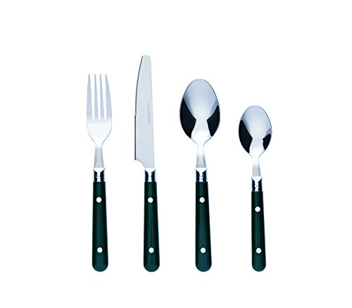 Bon Brasserie 16-Piece Stainless Steel Cutlery Set - Green