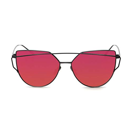 Leluo Damenmode Polarisierte Sonnenbrillen Verspiegelte Polarisierte Brillen Große Sonnenbrillen Mädchenbrillen (Color : Red)