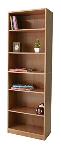 Hoch Holz anpassbar verstellbar Regal Möbel Bücherregal doublestack, beech, 60 x 29 x 180 cm (Regale Bücherregal Verstellbare)