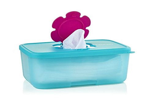 TUPPERWARE Baby Kinder Feuchttücherbox Feuchttücher Box groß hoch Windeln Pampers (lila)