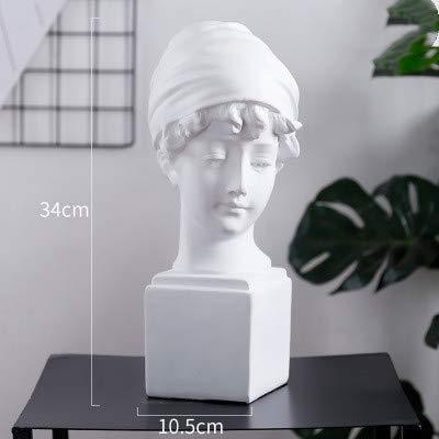 ZFW Home decoration Resin Figure Statue Plaster Figure decoration Large Art props Portrait Sculpture Model Head Ornament girl