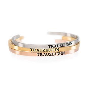 SYDNEY Trauzeugin Armreif Armband Geschenk | Trauzeugin Armband in Schmuckverpackung als Geschenk