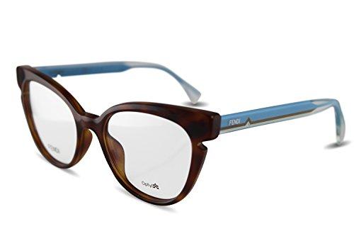 Fendi Brillen Für Frau 0134 N9D, Tortoise / Blue / Crystal Kunststoffgestell