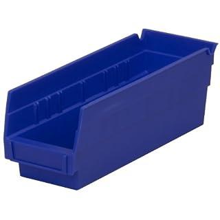 Akro-Mils 30120 Aufbewahrungsbox für Nistregale, 30,5 x 10,2 cm, transparent, Kunststoff, 24 Stück, 30120