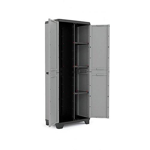 KIS Stilo - garage cabinets (Universal, De pie, Negro, Gris, Rojo, Hinged door)